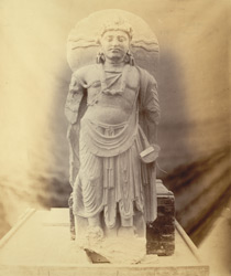 Statue of a Bodhisattva from the village of Mahomed Nari, Hashtnagar, Peshawar District